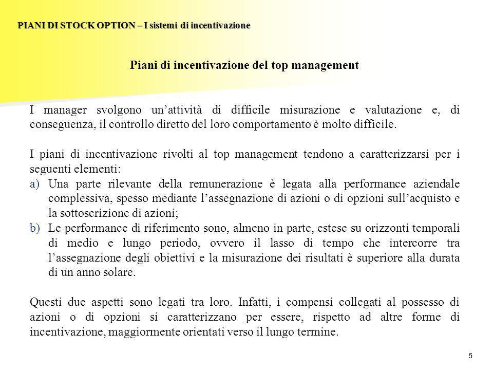 Piani di incentivazione del top management