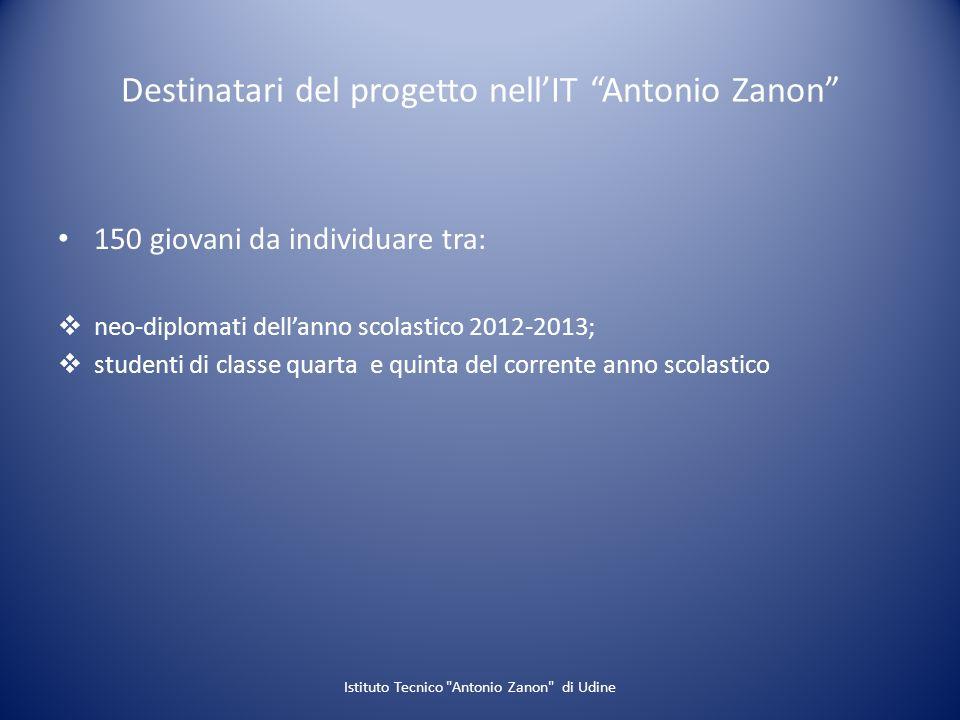 Destinatari del progetto nell'IT Antonio Zanon