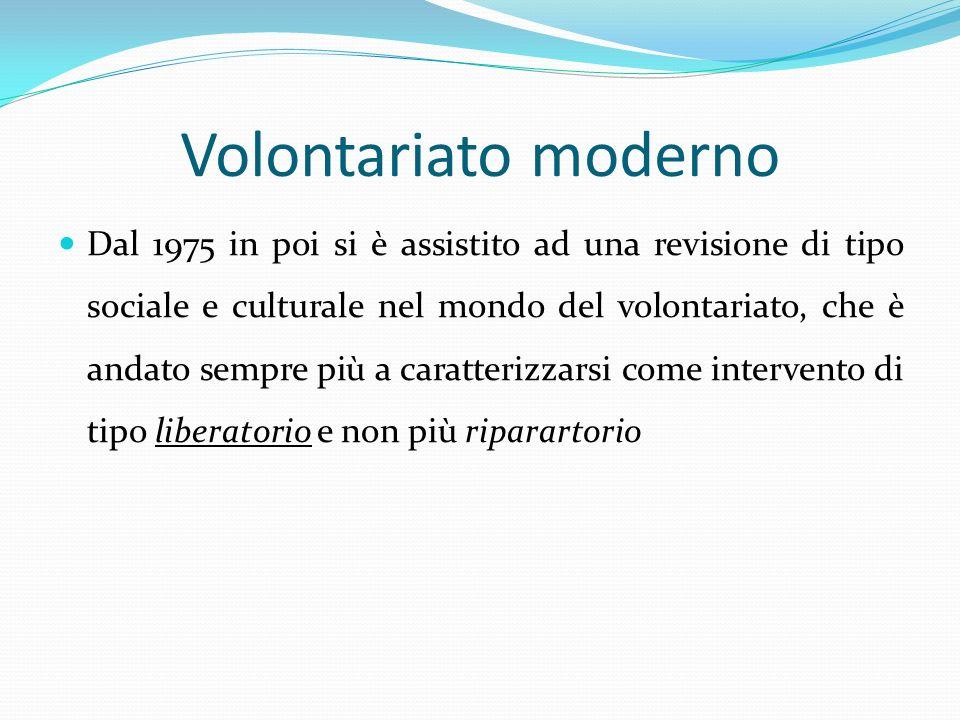 Volontariato moderno