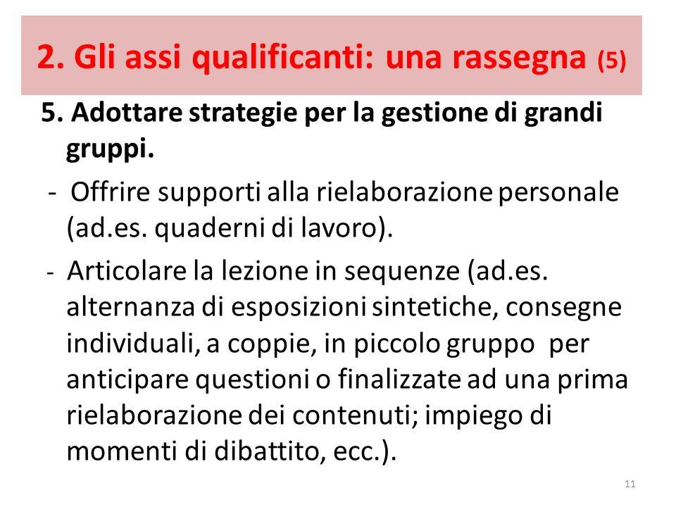 2. Gli assi qualificanti: una rassegna (5)