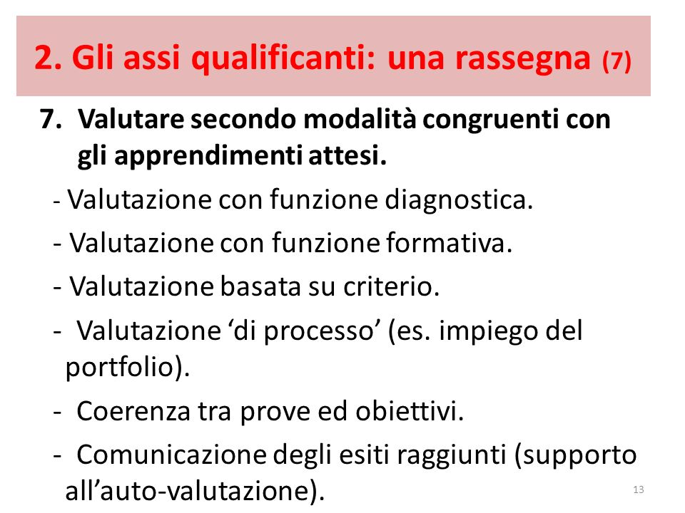2. Gli assi qualificanti: una rassegna (7)