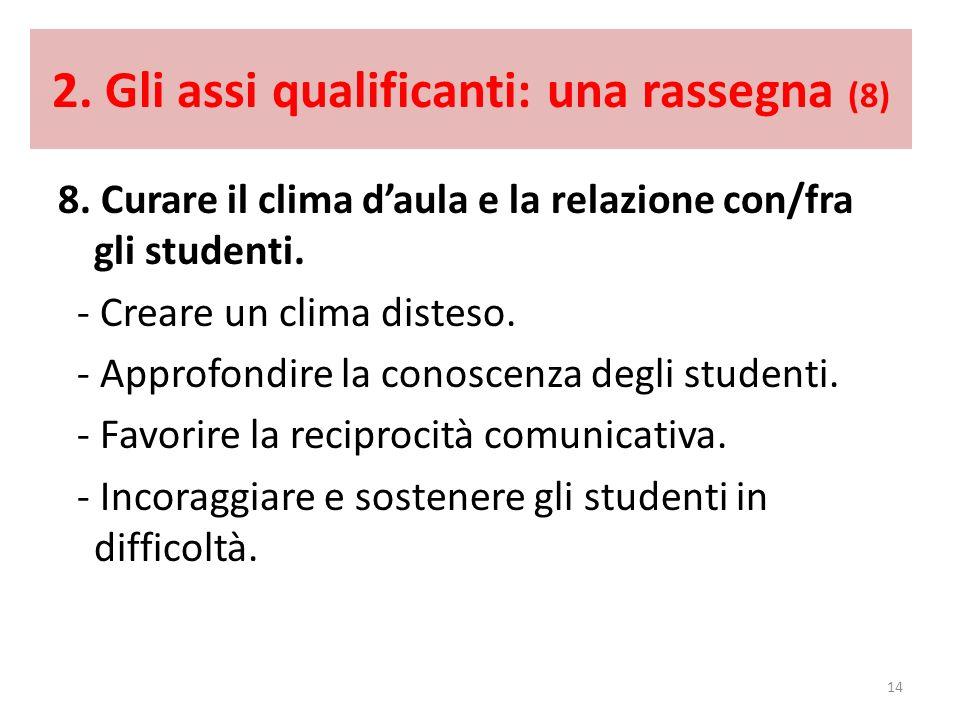 2. Gli assi qualificanti: una rassegna (8)