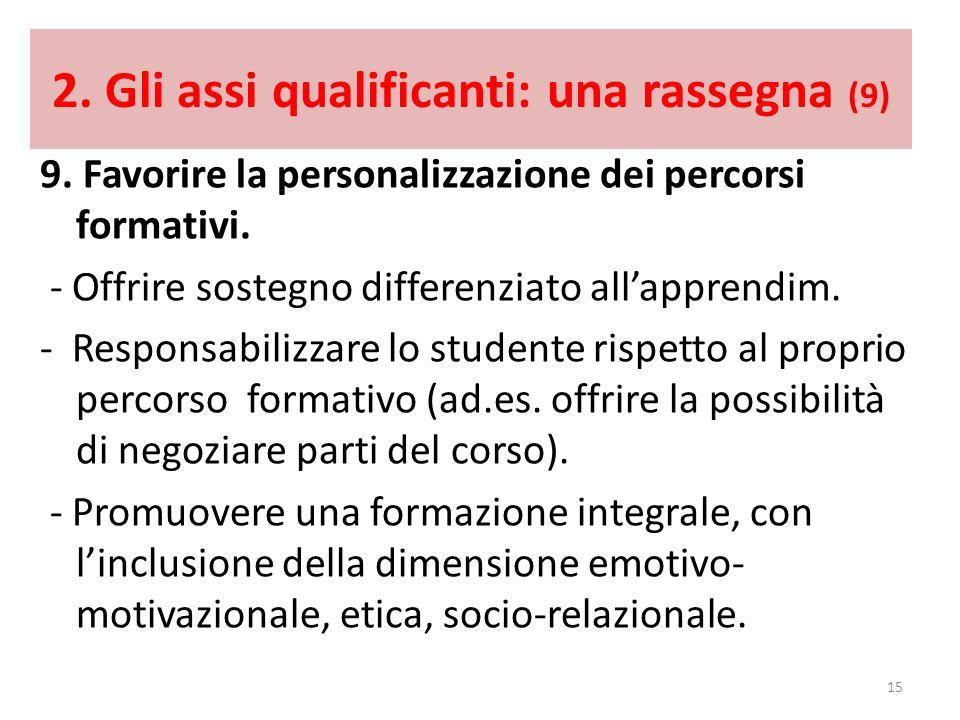 2. Gli assi qualificanti: una rassegna (9)