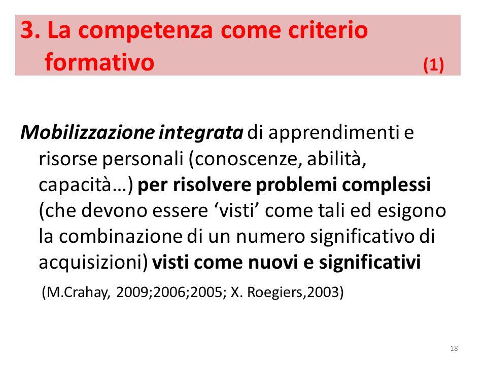 3. La competenza come criterio formativo (1)