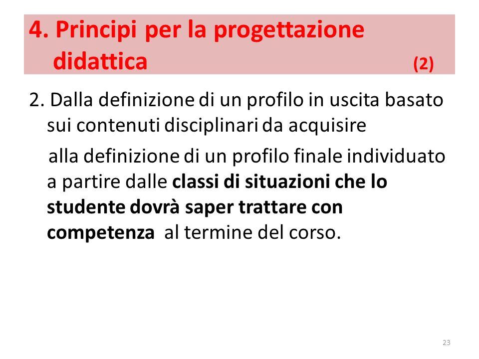 4. Principi per la progettazione didattica (2)