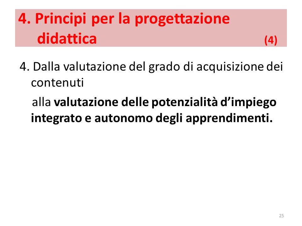4. Principi per la progettazione didattica (4)