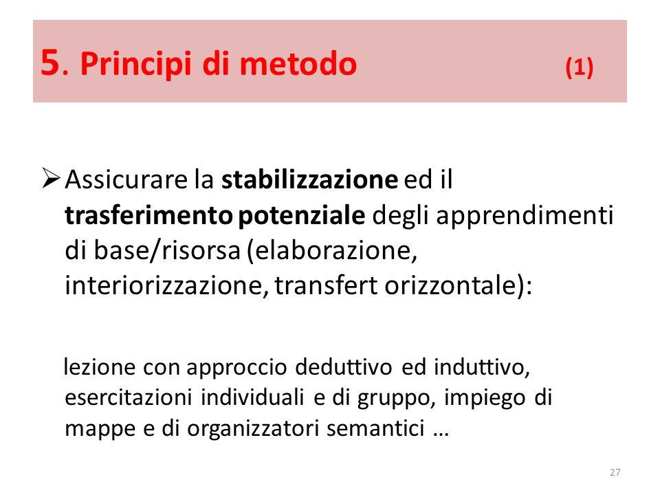 5. Principi di metodo (1)