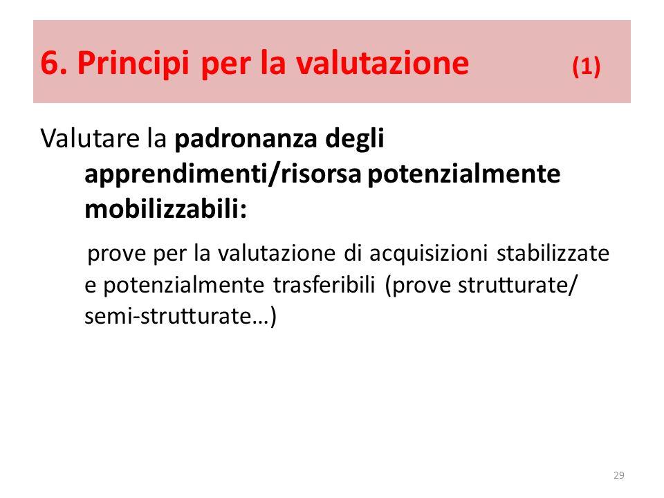 6. Principi per la valutazione (1)