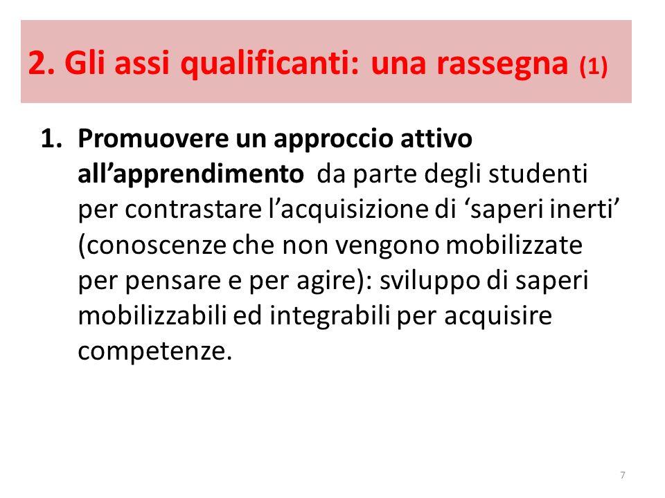 2. Gli assi qualificanti: una rassegna (1)