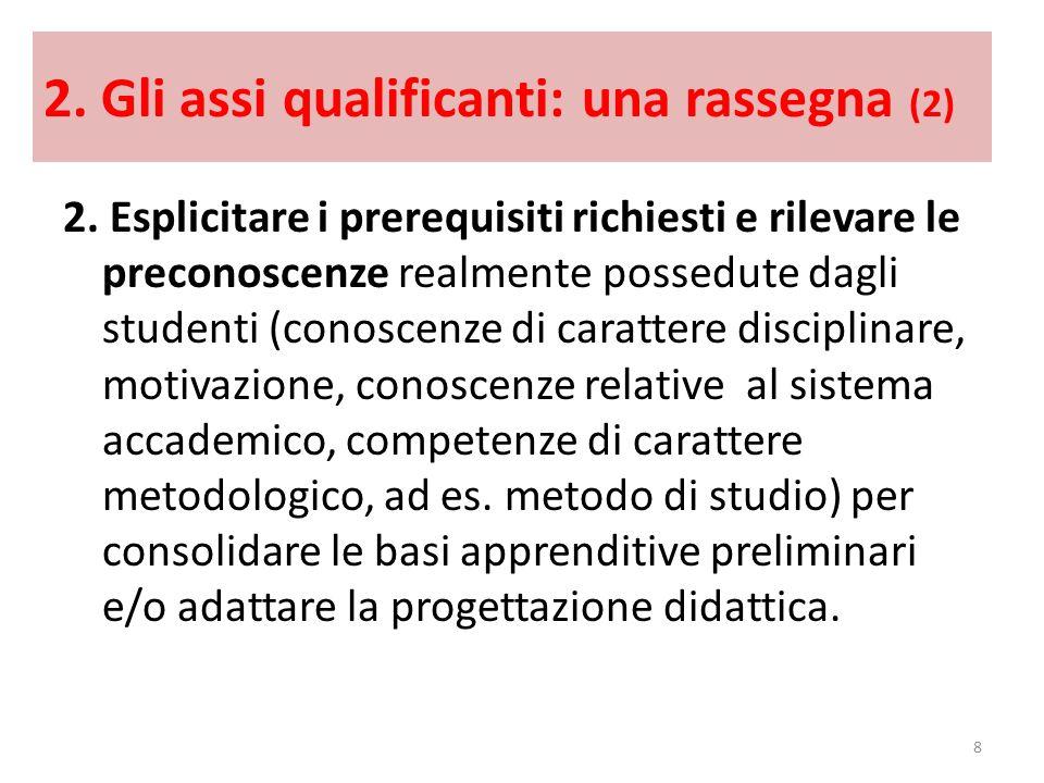 2. Gli assi qualificanti: una rassegna (2)