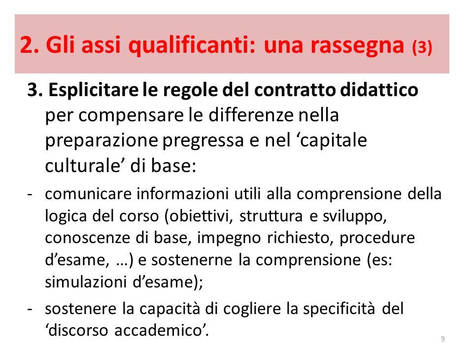 2. Gli assi qualificanti: una rassegna (3)