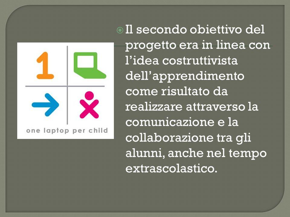 Il secondo obiettivo del progetto era in linea con l'idea costruttivista dell'apprendimento come risultato da realizzare attraverso la comunicazione e la collaborazione tra gli alunni, anche nel tempo extrascolastico.