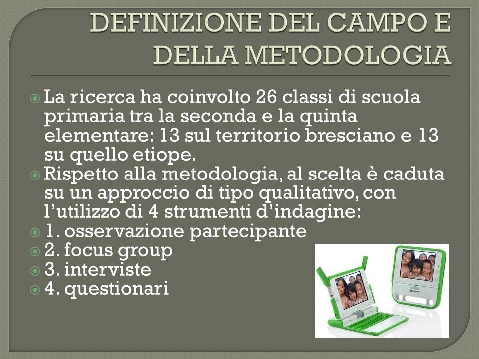 DEFINIZIONE DEL CAMPO E DELLA METODOLOGIA