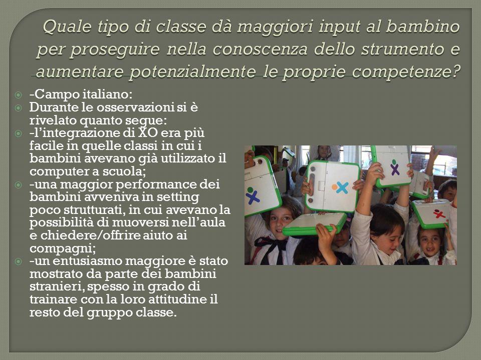 Quale tipo di classe dà maggiori input al bambino per proseguire nella conoscenza dello strumento e aumentare potenzialmente le proprie competenze