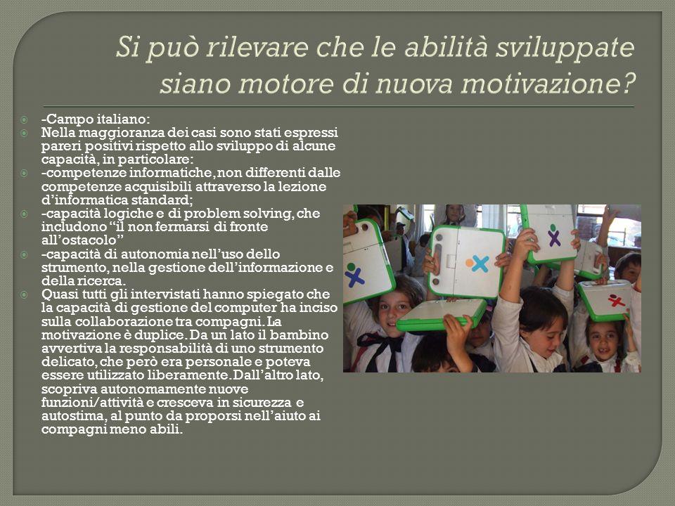 Si può rilevare che le abilità sviluppate siano motore di nuova motivazione