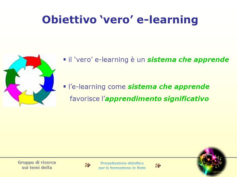 Obiettivo 'vero' e-learning