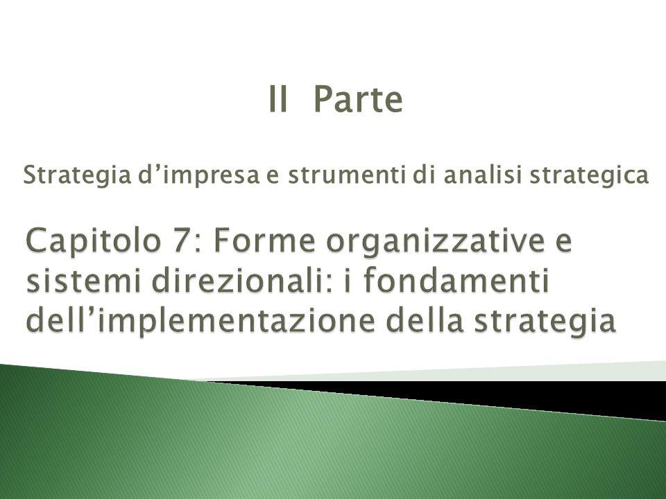 II Parte Strategia d'impresa e strumenti di analisi strategica
