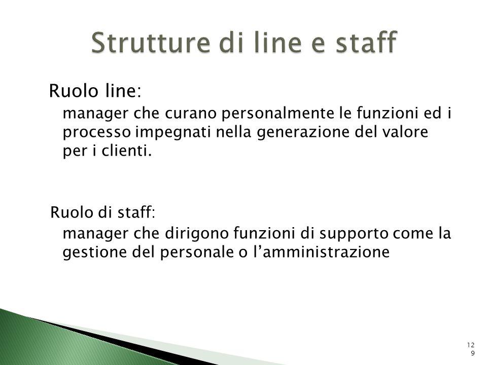 Strutture di line e staff