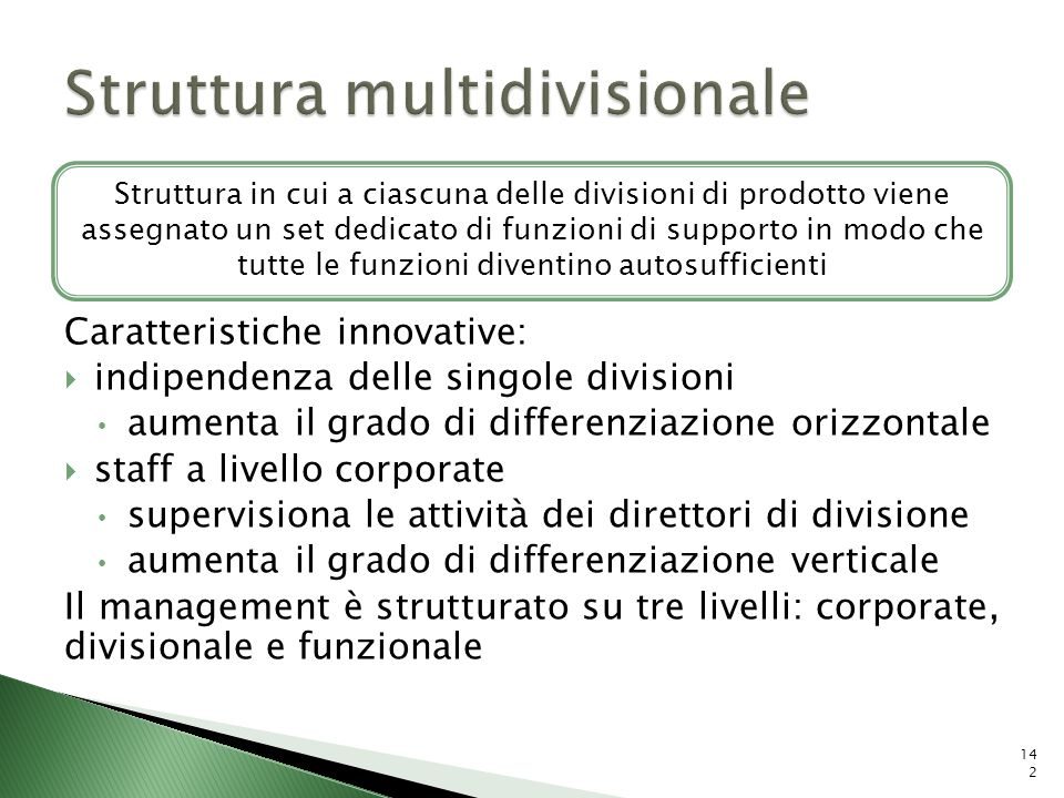 Struttura multidivisionale