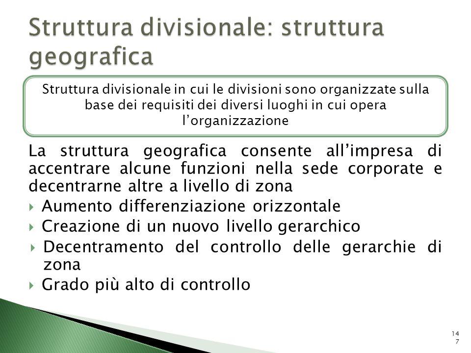 Struttura divisionale: struttura geografica