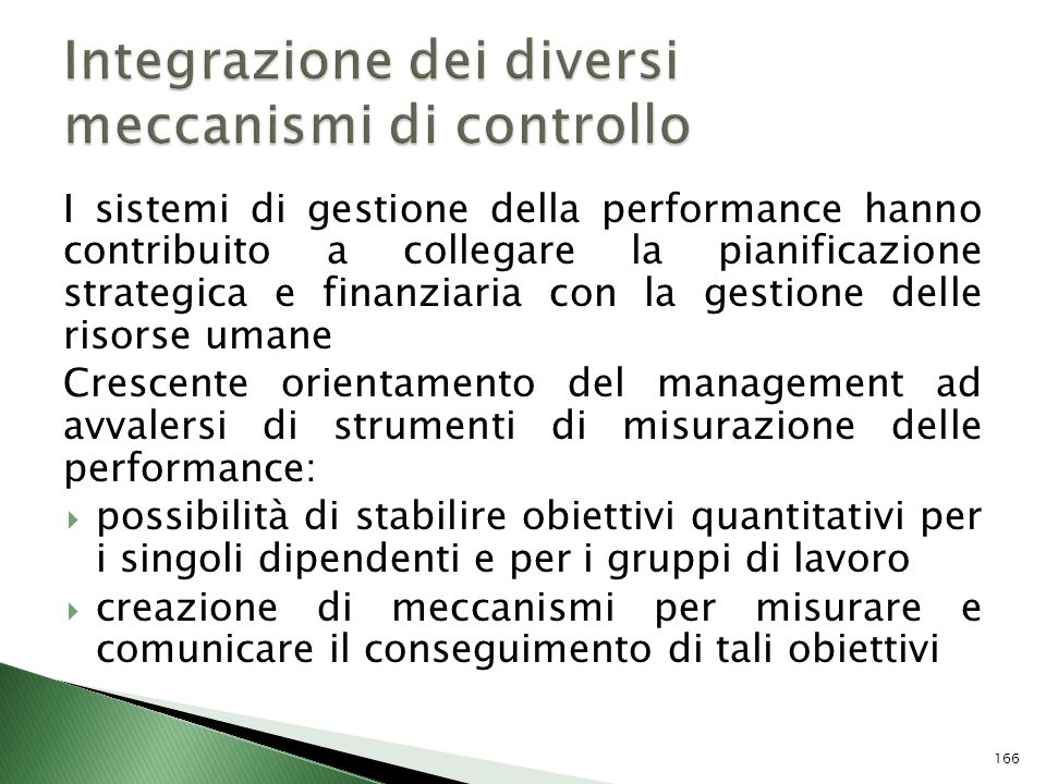 Integrazione dei diversi meccanismi di controllo