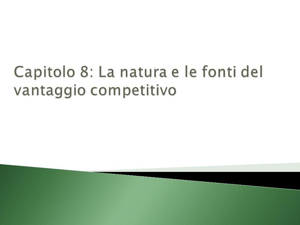 Capitolo 8: La natura e le fonti del vantaggio competitivo