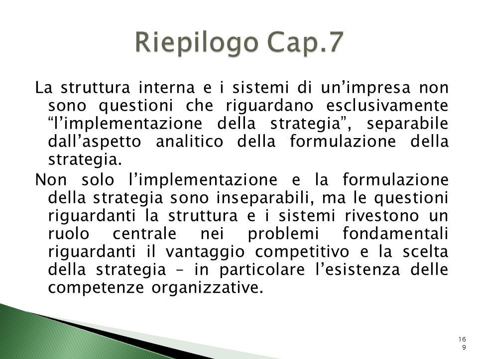 Riepilogo Cap.7