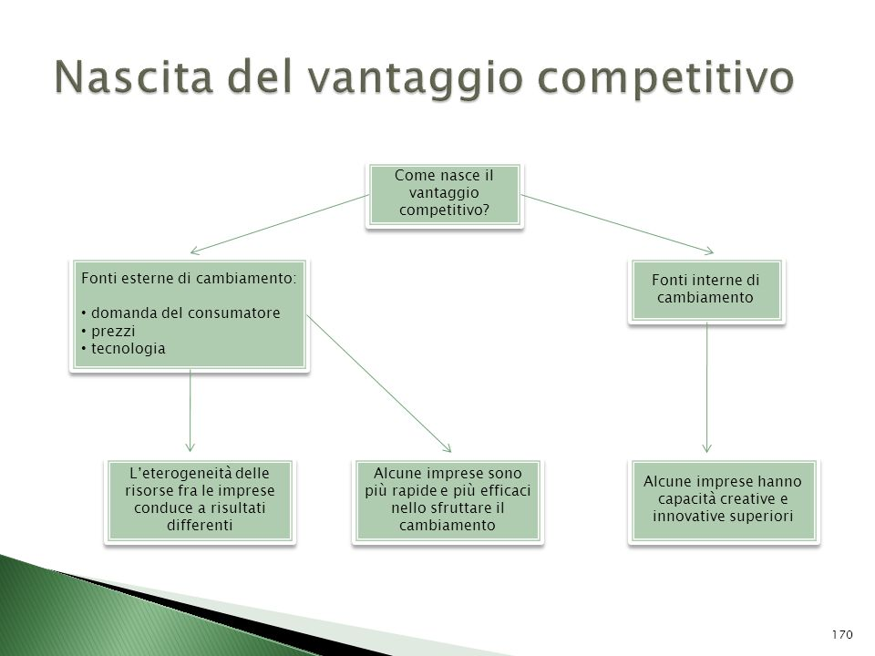 Nascita del vantaggio competitivo
