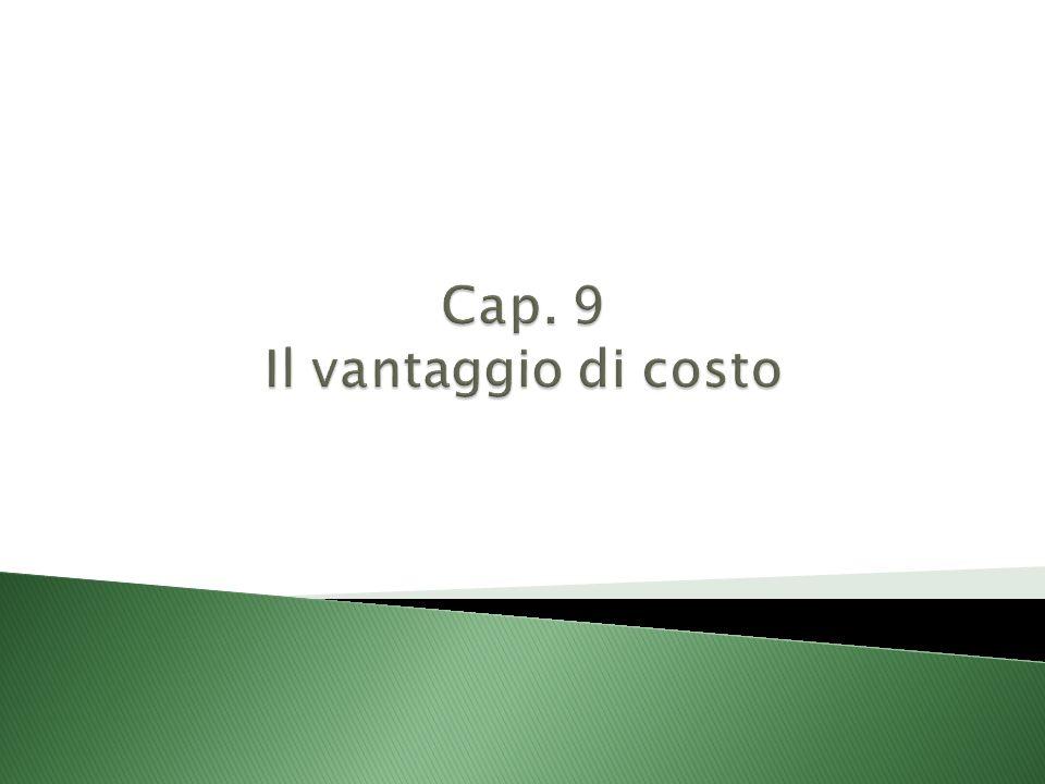 Cap. 9 Il vantaggio di costo