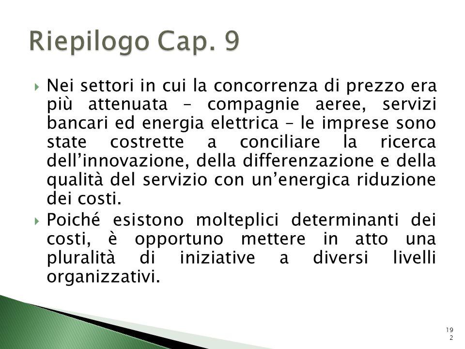 Riepilogo Cap. 9