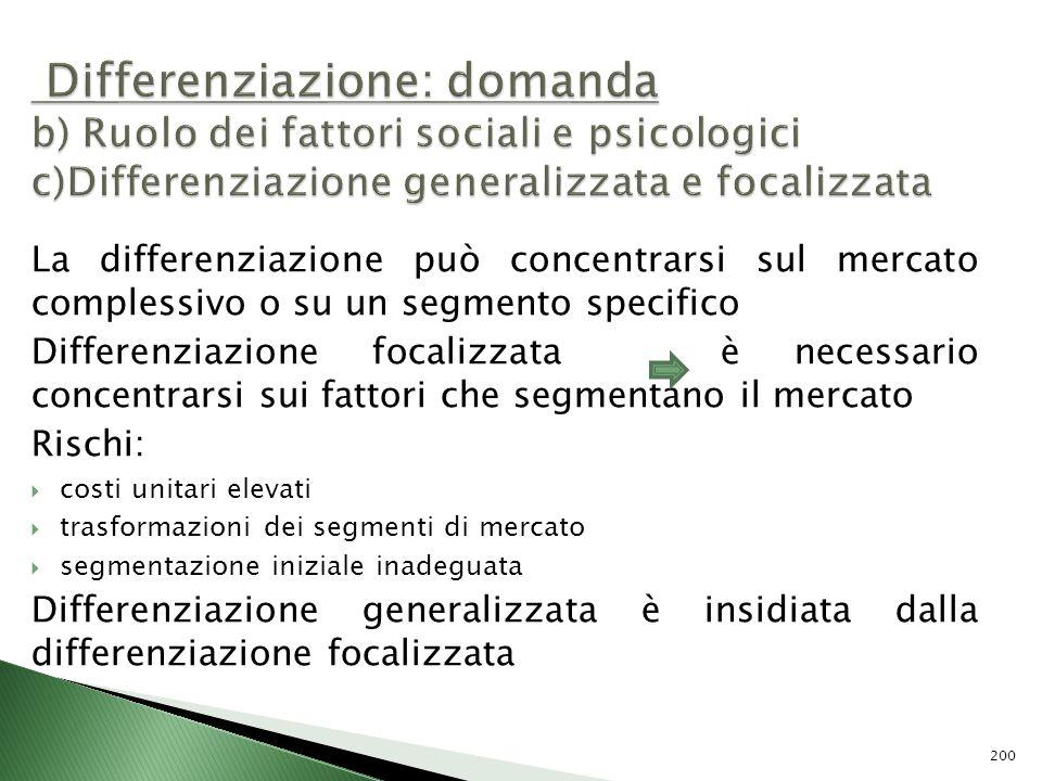 Differenziazione: domanda b) Ruolo dei fattori sociali e psicologici c)Differenziazione generalizzata e focalizzata