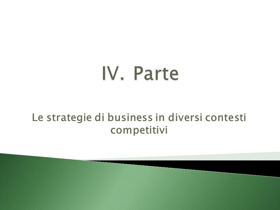 Le strategie di business in diversi contesti competitivi