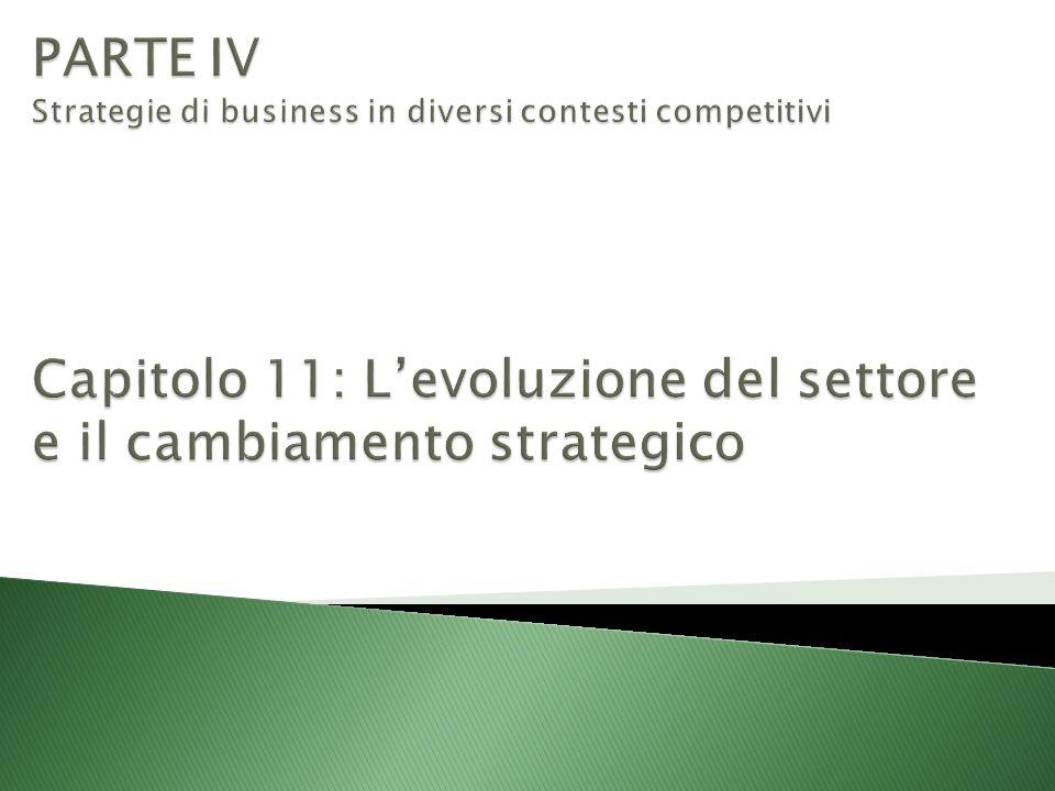 PARTE IV Strategie di business in diversi contesti competitivi Capitolo 11: L'evoluzione del settore e il cambiamento strategico