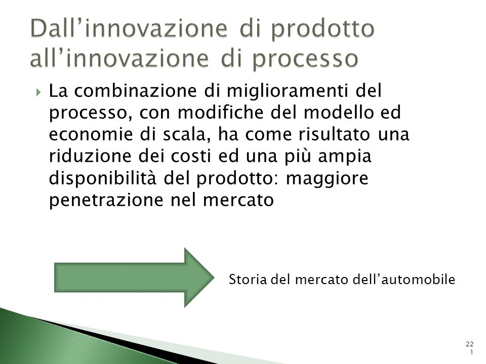 Dall'innovazione di prodotto all'innovazione di processo