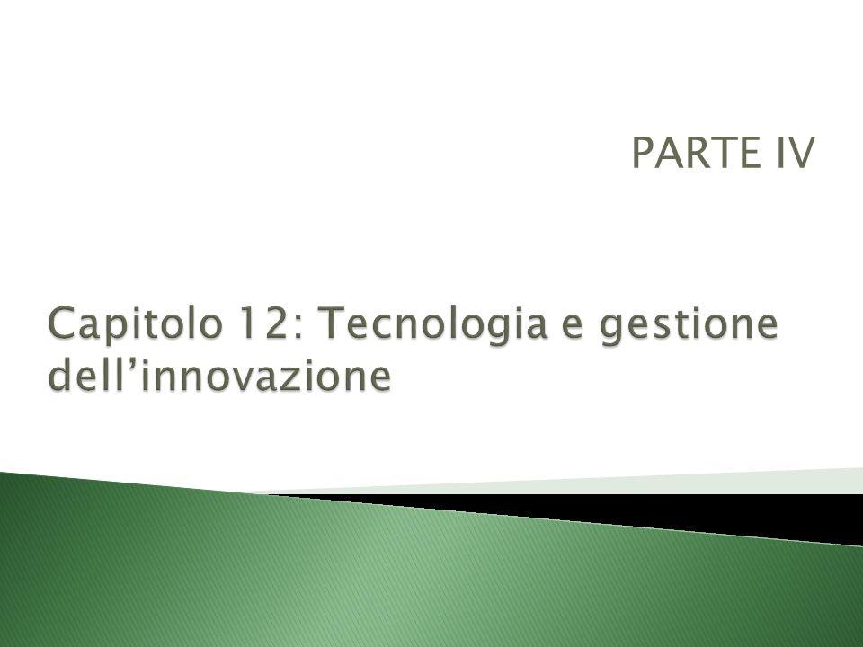 Capitolo 12: Tecnologia e gestione dell'innovazione