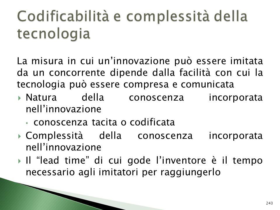Codificabilità e complessità della tecnologia