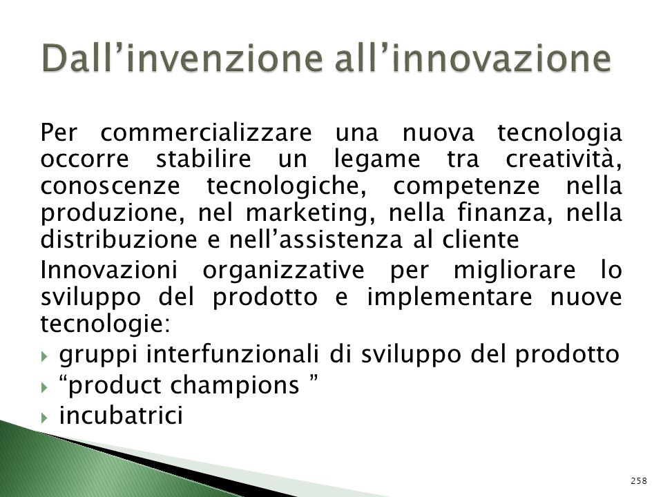 Dall'invenzione all'innovazione