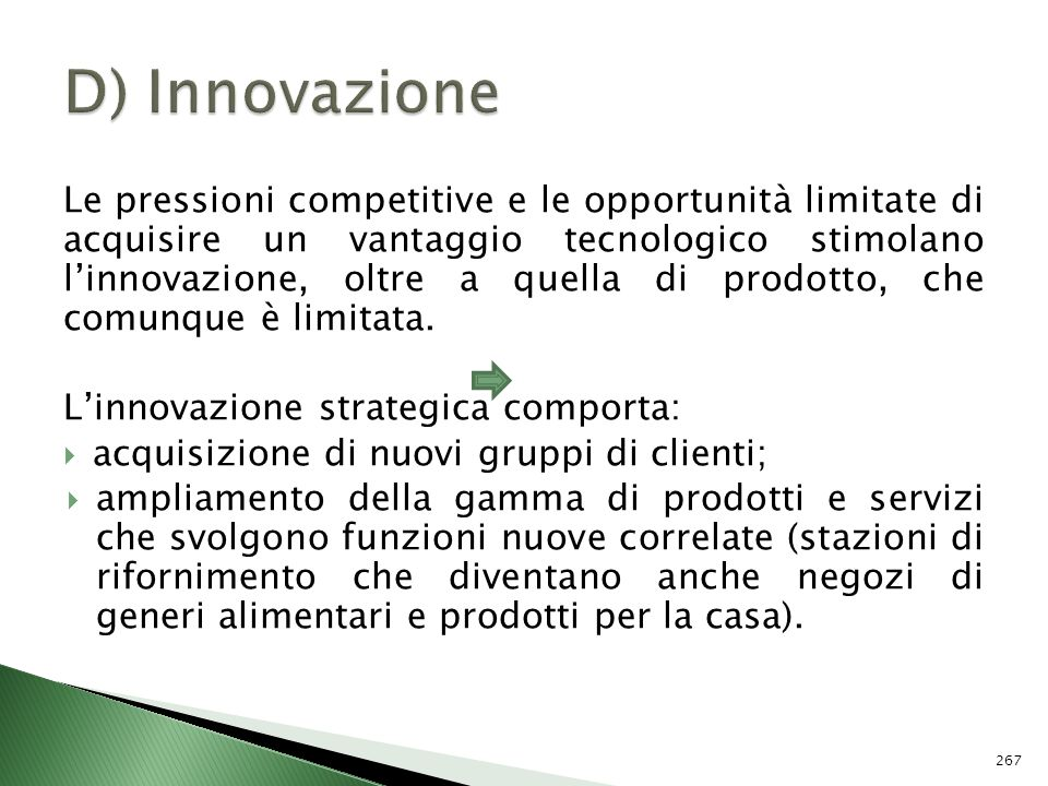 D) Innovazione
