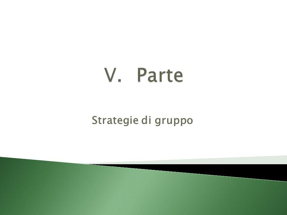 Parte Strategie di gruppo