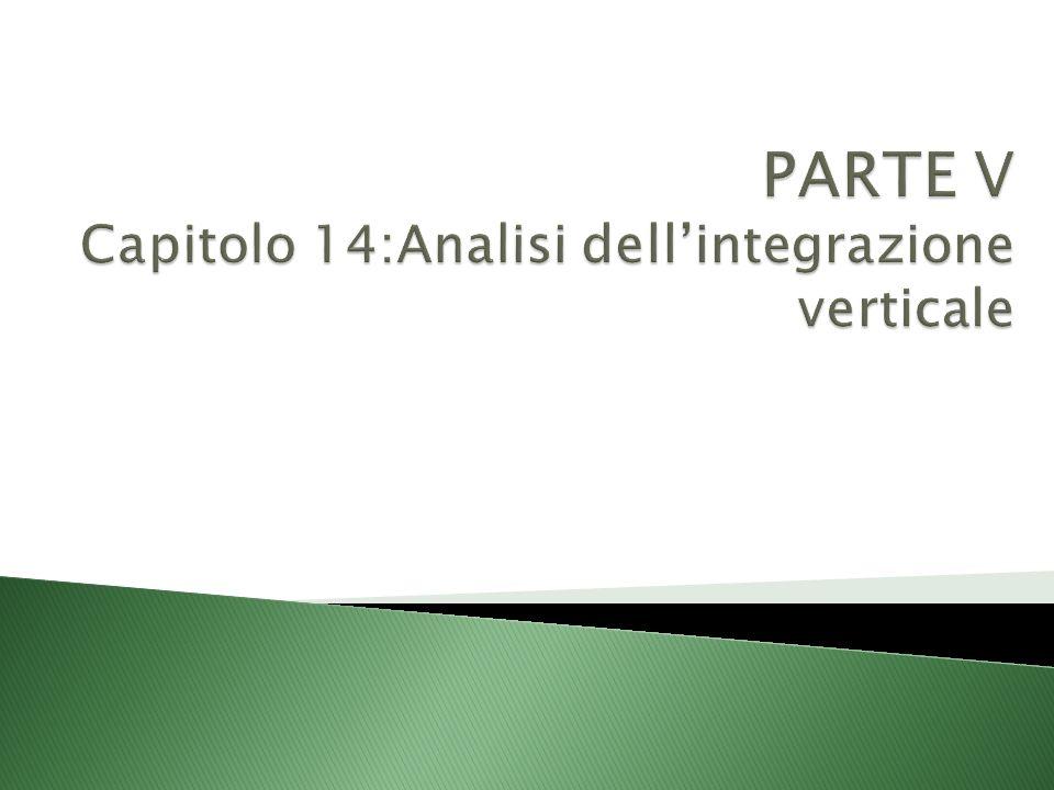PARTE V Capitolo 14:Analisi dell'integrazione verticale