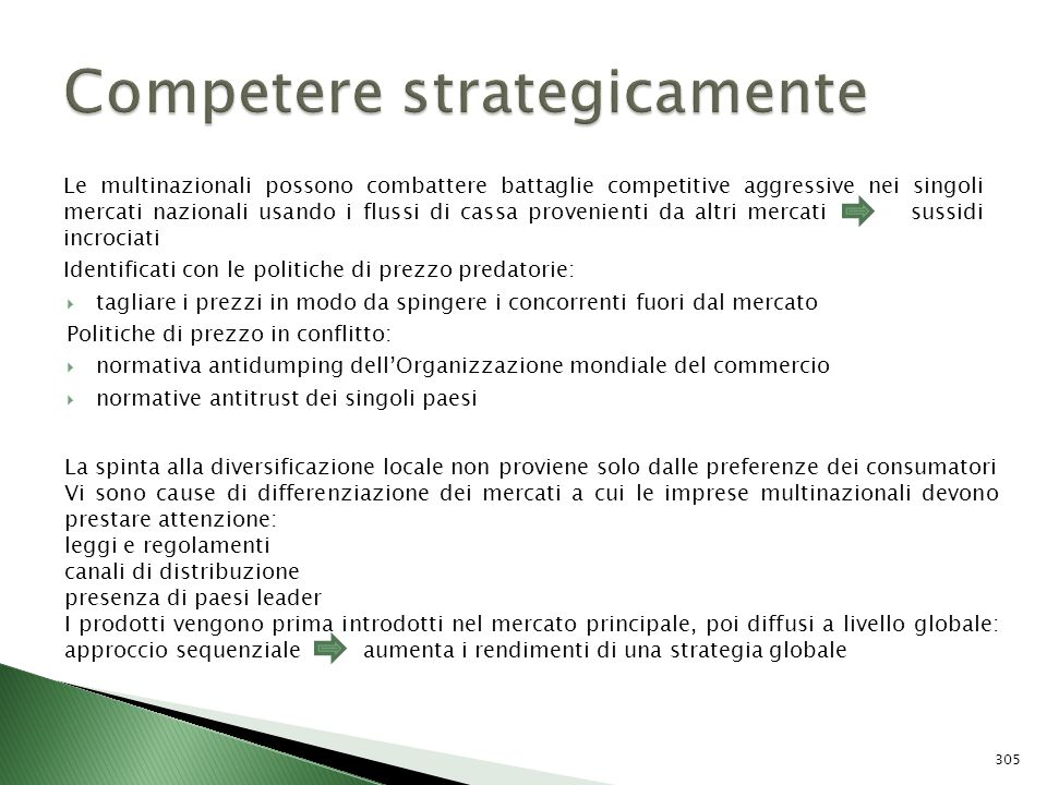 Competere strategicamente