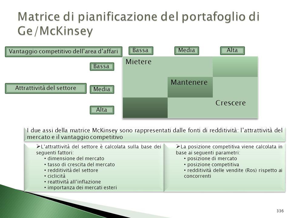 Matrice di pianificazione del portafoglio di Ge/McKinsey