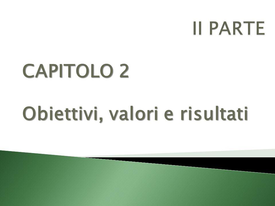 CAPITOLO 2 Obiettivi, valori e risultati