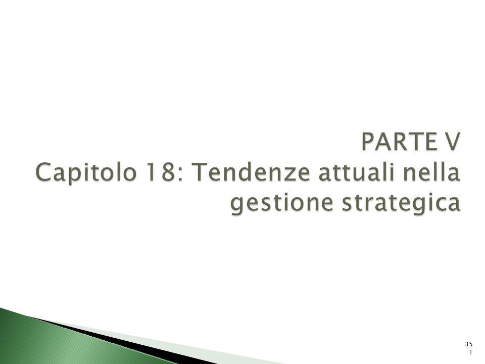 PARTE V Capitolo 18: Tendenze attuali nella gestione strategica