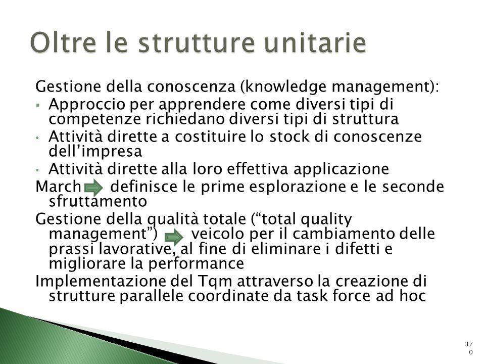 Oltre le strutture unitarie