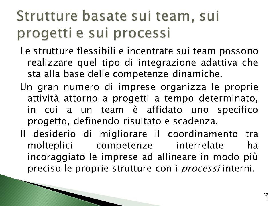 Strutture basate sui team, sui progetti e sui processi