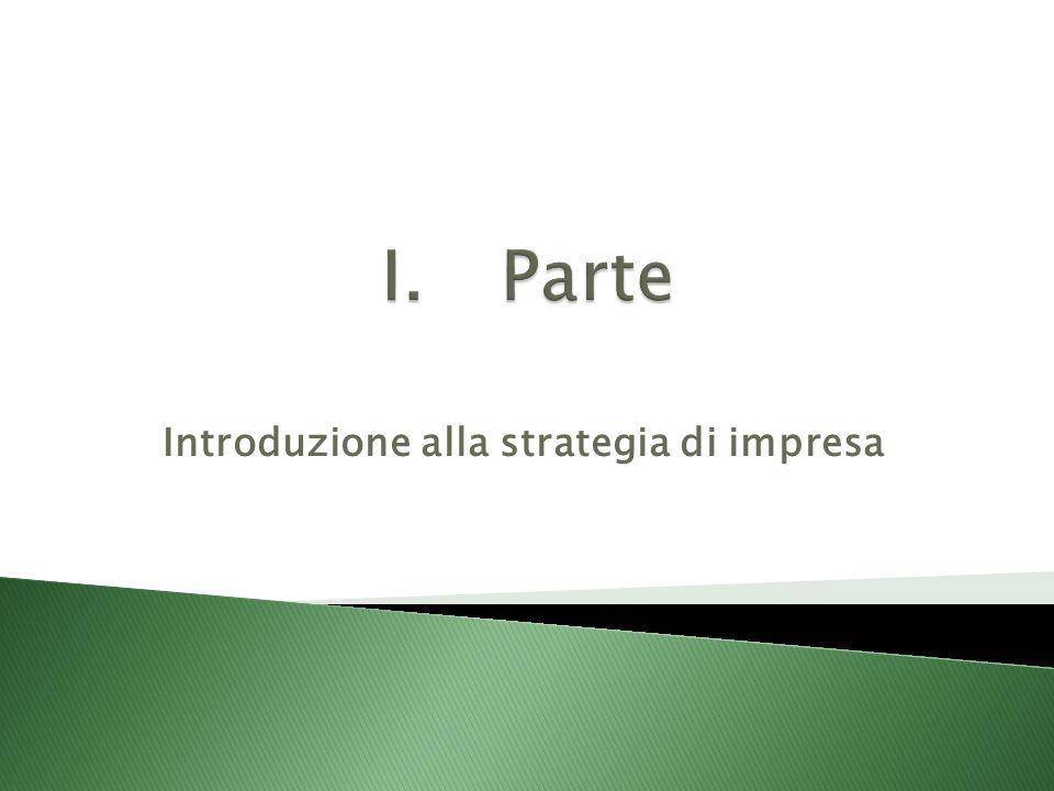 Introduzione alla strategia di impresa