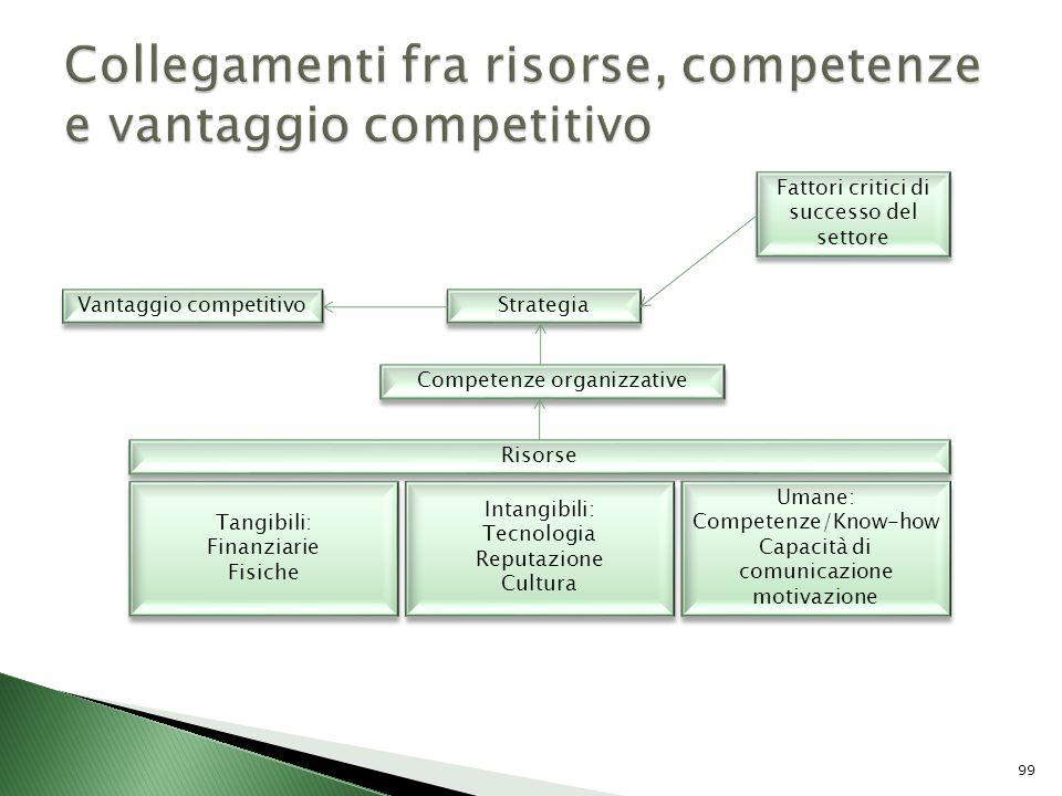 Collegamenti fra risorse, competenze e vantaggio competitivo