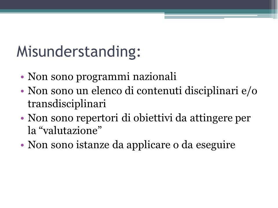 Misunderstanding: Non sono programmi nazionali