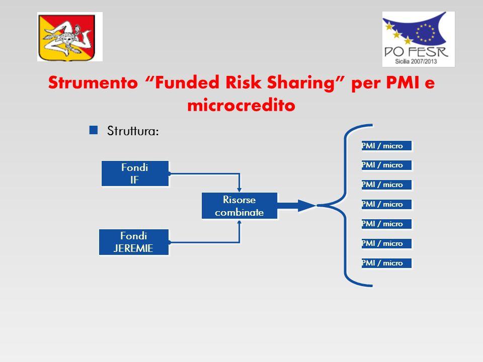 Strumento Funded Risk Sharing per PMI e microcredito